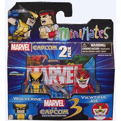 Marvel Vs Capcom 3 Minimates Serie 2 Mini Figura 2Pack Wolverine vs Viewtiful Joe