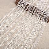 20 m x dentelle Vintage Ivoire rubans de dentelle Blanc Craft