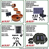 GARTENBRUNNEN BRUNNEN Solar BRUNNEN ZIERBRUNNEN VOGELBAD WASSERFALL GARTENLEUCHTE TEICHPUMPE - SPRINGBRUNNEN WASSERSPIEL für Garten, Gartenteich, Terrasse, Teich, Balkon, sehr DEKORATIV, VERBESSERTES MODELL MIT PUMPEN-INSTANT-START-FUNKTION SOLARTEICHDEKORATION, GARTENDEKO, LED-Solar-Set Wasserbrunnen