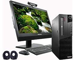 (Renewed) Lenovo ThinkCenter 19 inch, All in One Desktop Set ( Intel i3 2120, 8GB, 500GB HDD, 19 inches HD Monitor, Keyboard,
