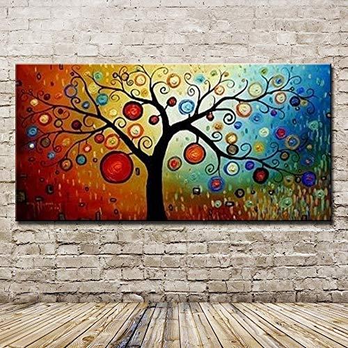 XIAOXINYUAN Pintura Al Óleo Pintada A Mano 100% Árbol De La Vida Colorida Imagen De La Pared Moderna del Arte Abstracto De La Decoración del Hogar De La Habitación 40×60Cm