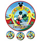 Tortenaufleger Geburtstag Tortenbild Zuckerbild Oblate Motiv: Disney Mickey Mouse 03 (Oblatenpapier)