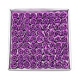 Weiye 81PCS sapone rose Flower–flora sapone profumato fiore di rosa–Olio essenziale sapone vegetale, regalo per anniversario/compleanno/matrimonio/SAN Valentino/festa della mamma regalo Purple B