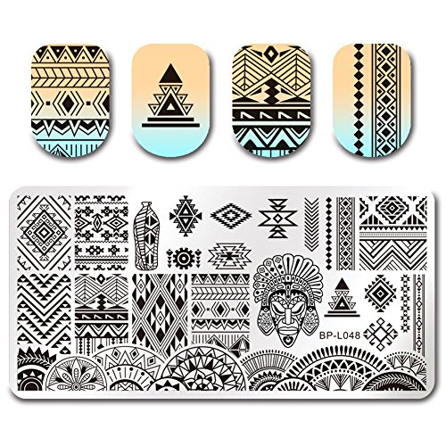 High Tutorial Monster (Born Pretty Nagel Schablonen Nail Art Stempel Plate Blumen BPX-L048 DIY)
