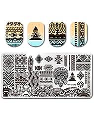 Born Pretty Plaque de Stamping Rectangulaire Nail Art Image Ethnique BP-L048