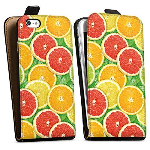 Apple iPhone X Silikon Hülle Case Schutzhülle Zitrone Sommer Trend Orange Downflip Tasche schwarz