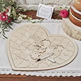 Boho - Wooden Jigsaw Guestbook Alternative