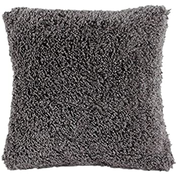 "LUXURIOUS VELVET CUSHION COVER SILVER GREY LARGE 24"" X 24"" 60cm x"