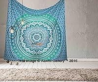 Arazzo indiano in tessuto stampato 100% cotone. Completamente realizzato a mano. Per ravvivare qualsiasi spazio. Aggiungi un tocco etnico alla tua stanza con questa decorazione da parete fatta a mano in cotone. Trasformate radicalmente l'aspe...
