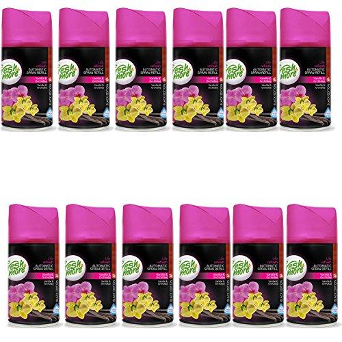 12x Fresh & More Vanille & Orchidee Passend Für Automatische Duftspender, 250ml