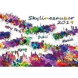 Skylinezauber · DIN A4 · Premium Kalender 2019 · USA · Asien · Kanada · Europa · Skyline · Stadt · Großstadt · Kunst · Malerei · Aquarell · Edition Seelenzauber