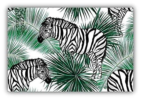 Zebra Jungle Label Animal Kunst Dekor Aufkleber 12 x 8 cm
