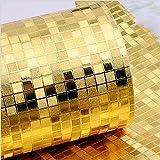WanJiaMen'Shop Golden Silber Kleine Mosaik Gold Folie Restaurant Hotel KTV Decke Decke TV Hintergrund Tapete, Gold