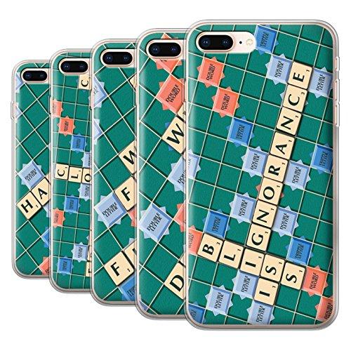 Stuff4 Gel TPU Hülle / Case für Apple iPhone 8 Plus / Pack 12pcs / Scrabble Worte Kollektion Pack 12pcs