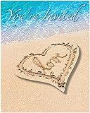 Unbekannt Creative Converting 8Zählen Beach Love Party Einladungen, blau/braun