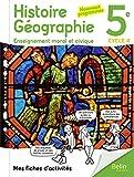 Mes fiches d'activités d'Histoire Géographie EMC 5ème