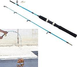 Housesczar Portable Fiber Reinforce Plastic Lure Rod Telescopic Fishing Pole (1.2M)