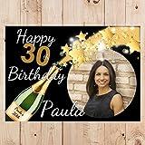 Partyposter Banner N54 personalisierbar zum 21., 18., 30., 40., 50. Geburtstag mit Aufdruck