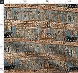 Antik, Ägypten, ägyptisch, Blau, Hellbraun, Stoffe -