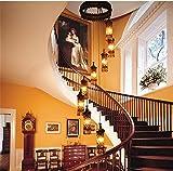 HEYUN& Böhmische Villa Duplex Treppenhaus Pendelleuchte Crystal Luxus Hotel Pendelleuchte 8 Lichtquelle (geben Sie Glühlampen frei) [Energieklasse A ++]