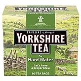 Taylors of Harrogate Yorkshire for Hard Water 80 Tea Bags 250g