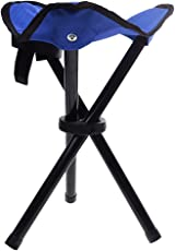 Generic Kids Camping Fishing Travel Portable Lightweight 3-legged Tripod Folding Stool Chair Blue/Red/Green