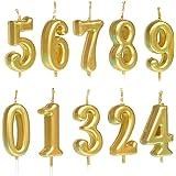 10 velas numéricas para tarta de cumpleaños, decoración de tartas, con números de 0 a 9, tonos brillantes, para fiesta de cum