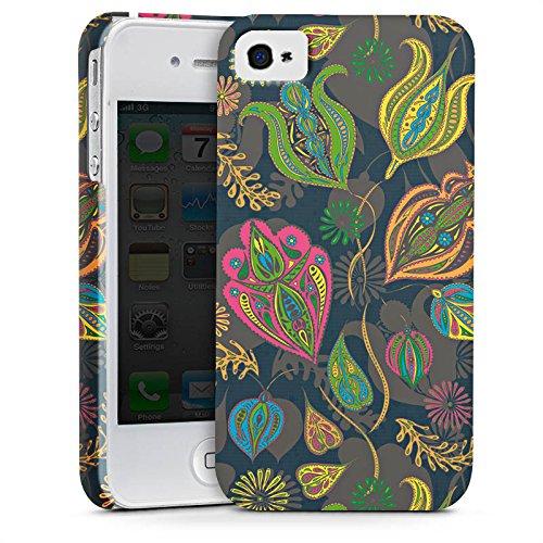 Apple iPhone X Silikon Hülle Case Schutzhülle Blumen Muster Kunst Premium Case glänzend