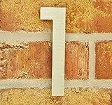 nanook Hausnummer 1 Script - 1,5 mm Edelstahl matt gebürstet - 15 cm Höhe - Nr.1