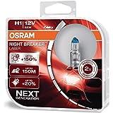 OSRAM NIGHT BREAKER LASER H1, next generation, 150% more brightness, halogen headlamp, 64150NL-HCB, 12V, passenger car, duo b
