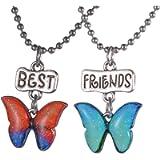 HOUSWEETY Best Friend Split Heart Necklace Charm Pendant