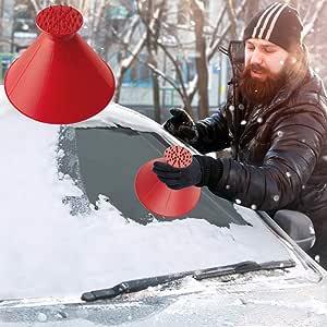 Eiskratzer Auto Eisschaber Auto Rundes Magisches Kegelförmiges Eiskratzer Reinigung Schneeschaufel Werkzeug Eiskratzen Ice Scraper Für Auto Windschutzscheibe Schneeschaufel Eisschaber Auto