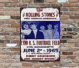 The Rolling Stones 325,4x 20,3cm métallique rétro Concert Poster plaque murale Pic
