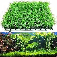 Plantas artificiales para acuario QHJ, decoración de acuarios hecha de plástico