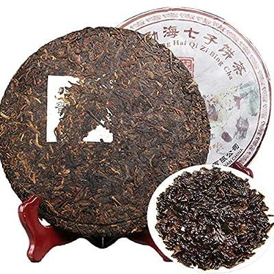 Chinois 357 g de thé Pu'er (0.787LB) Puer thé Yunnan arbre thé gâteau de thé cuit collection Menghai soins de santé Puerh thé Pu er thé noir Ripe Puer thé thé chinois shu cha sain thé Puerh alimentaire nourriture vert vieux arbres thé Pu erh