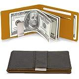 MUCO Men's Credit Card Holder with Metal Money Clip RFID Protection Slim Design Wallet Bifold Wallet