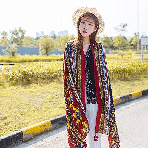 Mujeres Bufandas estilo folk en primavera y verano vacaciones toalla de playa...