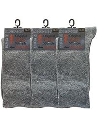 Wowerat 6 Paar Wellness Socken Damen und Herren ohne Gummi, für Diabetiker geeignet, XXL, Größe 35-50, extra breiter Komfortbund, Übergrößen