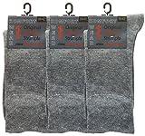 Socken ohne Gummi Herren | 6 Paar | für Diabetiker geeignet | Größe 35-50 | extra breiter Komfortbund | Übergrößen (grau, 39-42)