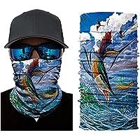 Pañuelo bandana multiuso para deportes Outdoor (Fish)