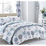Catherine Lansfield Banbury Floral Couvre-lit–Bleu
