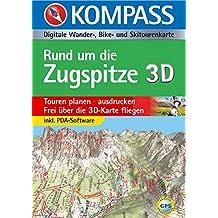 Rund um die Zugspitze 3D: Digitale Wander-, Bike- und Skitourenkarte