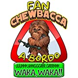 Pegatina Star Wars fan Chewbacca a bordo