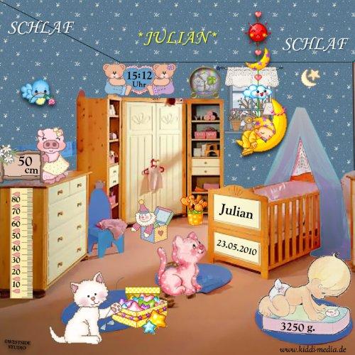 """Preisvergleich Produktbild """"Schlaf JULIAN Schlaf"""" - Personalisierte SCHLAFLIED CD gesungen mit """" JULIAN """" (auch JEDER andere Wunschname möglich !) - wirkungsvoll beim Einschlafen / Spezialanfertigung für Kunde - Inkl. A4 Geburtsbild mit allen Geburtsdaten / Das Schlaflied für Ihren SCHATZ ! (oder als Patengeschenk, zur Geburt, ...)"""