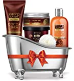 Bryan & Candy New York Cocoa Shea Bath Tub Kit for Complete Home Spa Experience (Shower Gel, Hand & Body Lotion, Sugar…