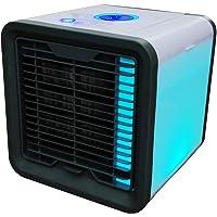Mini Air Refroidisseur, Petit USB Climatiseur Portable 3 EN 1, Mini Cooler, Purificateur, Humidificateur, 3 Niveaux De Ventilation, avec 7 Couleurs Veilleuse, Pour Accueil Bureau Extérieur
