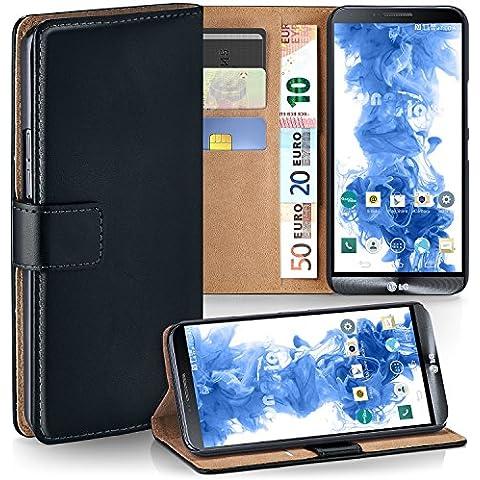 Bolso OneFlow para funda LG G3 S Cubierta con tarjetero | Estuche Flip Case Funda móvil plegable | Bolso móvil funda protectora accesorios móvil protección paragolpes en