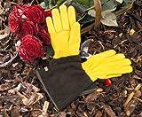 WAGNER Gold Leaf Gloves TOUGH TOUCH Herren - Gartenhandschuhe/Rosenhandschuhe der Extraklasse, Hirschleder und Rindsleder/stachelresistent - 25305000
