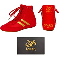 Mens Boxing Boots Boys Boxing Footwear Boxing Shoes VIPER (9) RED
