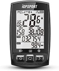 Fahrradcomputer GPS ANT+ Funktion iGPSPORT iGS50E Drahtlose Tachometer Radfahren Fahrrad Kilometerzähler Mit Großen Bildschirm (schwarz)